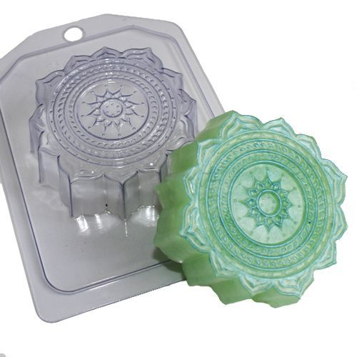 1pc Flower Plastic Soap Making Mold Mould