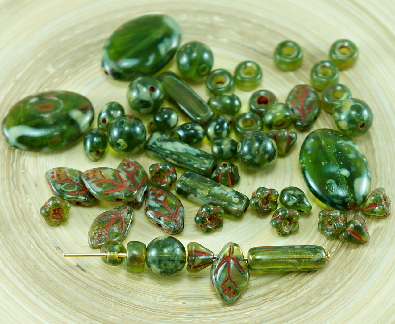 4pcs GRAND PICASSO Czech glass Plat Ovale perles 20 mm x 14 mm